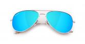 SLAV-13 0602860819367 SENSOLATINO® SERIES AVIANO LARGE SILVER FRAME WITH ICE-BLUE POLARIZED LENSES-F