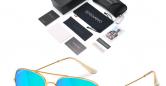 Sensolatino_Sunglasses_Aviano_Large_Gold_Coloured_Frame_with_Iceblue_Polarised_Lenses