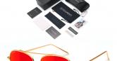 Sensolatino_Sunglasses_Aviano_Large_Gold_Coloured_Frame_with_Red_Polarised_Lenses