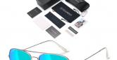 Sensolatino_Sunglasses_Aviano_Large_Silver_Coloured_Frame_with_Iceblue_Polarised_Lenses