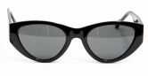 SENSOLATINO 768563624902 MADE IN ITALY MOD. MONTEFELTRO POLISHED BLACK FRAME WITH BLACK LENSES
