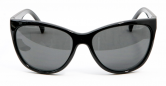 SENSOLATINO 768563624926 MADE IN ITALY MOD. PISCOPO POLISHED BLACK FRAME WITH BLACK LENSES
